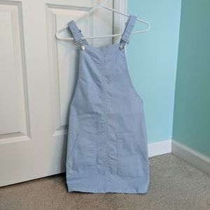 NWT Boohoo Pastel Pinafore Overall Dress